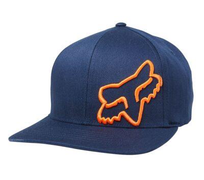 шапка fox flexair 45 navy orange